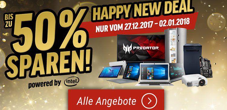 Notebooksbilliger: Happy New Deal mit vielen Angeboten für Technik & Haushalt