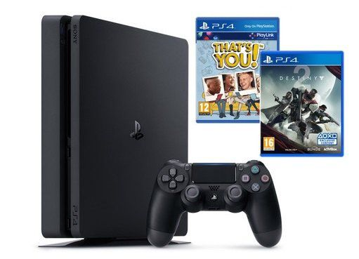 Playstation 4 Slim mit 1TB + 2. Controller + Destiny 2 + Thats You für 245€ (statt 322€)