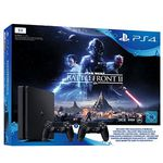 Playstation 4 Slim 1 TB + 2. Controller + Star Wars Battlefront 2 für 299€ (statt 361€)