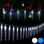Deuba LED-Lichterkette im Eiszapfendesign mit 80 LEDs für 12,95€