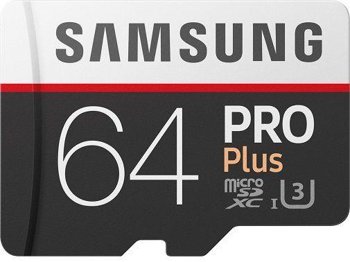 Samsung Pro Plus 64GB microSDXC Speicherkarte für 26,99€ (statt 42€)
