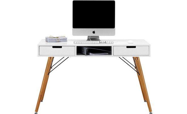 Mömax Schreibtisch (Pinienholz, Weiß) für 78,92€ (statt 100€)