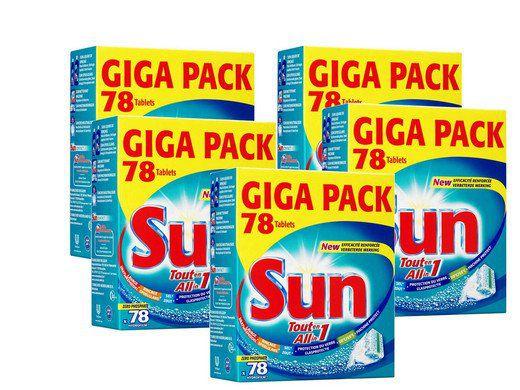 390er Pack Sun All in 1 Geschirrspültabs für 46,90€