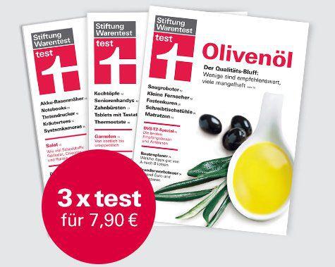 """3 Ausgaben """"test"""" von der Stiftung Warentest für 7,90€ + gratis test Jahrbuch 2018 im Wert von 14,90€"""
