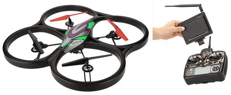 WL Toys V666   4 Kanal XXL RTF Quadrocopter mit 5,8 G FPV Video Live Übertragung, Fernbedienung & Zubehör für 54,45€ (statt 120€)