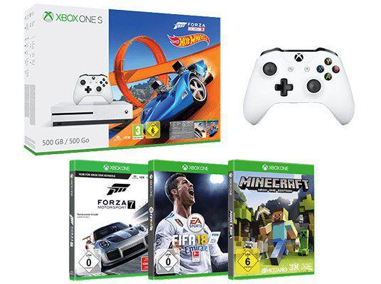 Xbox One S Mega Bundle mit 5 Spielen und 2. Controller für 222€ (statt 345€)