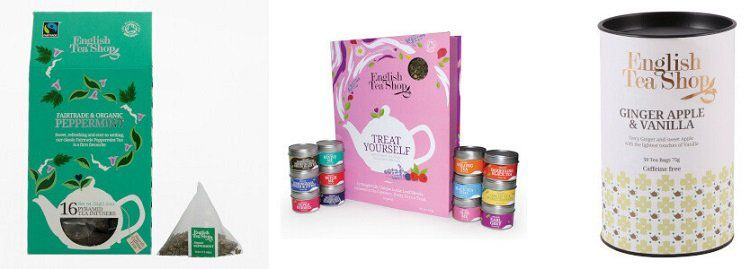 English Tea Shop    verschiedene Teesorten bei Vente Privee   z.B. 50 Teebeutel in Geschenkdose ab 5€