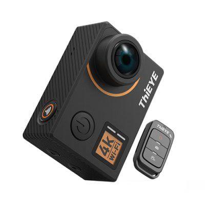 ThiEYE T5 Edge 4K WiFi Action Cam mit Gyro Stabilisator, Verzerrungskorrektur (neues Model!) für 78,77€ (statt 91€)