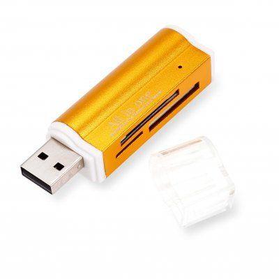4 in 1 Mini USB 2.0 Card Reader Hub mit TF / SD Slot für 0,87€