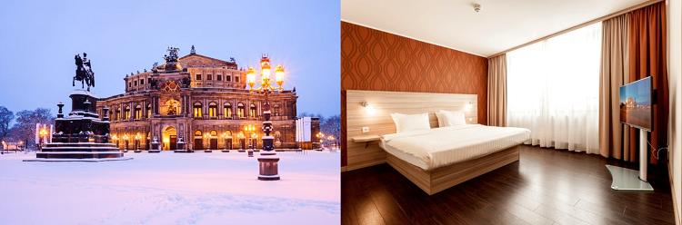 1   4 ÜN im 3,5* Hotel in Dresden inkl. Frühstück ab 39€ p.P.