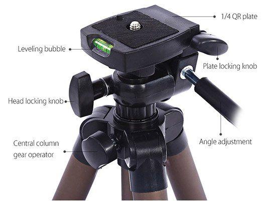 Weifeng WT3130 Kamerastativ aus Aluminium für 11,66€