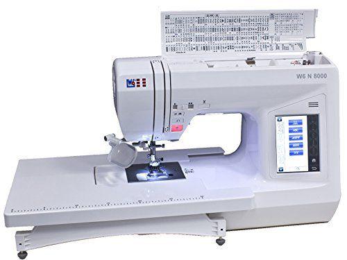 W6 N 8000 Computergesteuerte Nähmaschine mit 504 Programmen für 521,99€ (statt 649€)