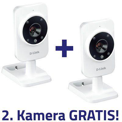 2er Pack D Link DCS 935L HD Sicherheitskamera für 49,90€ (statt 100€)