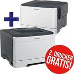 Vorbei! 2x Lexmark CS317dn Farblaser-Drucker für 99€ (statt 198€)
