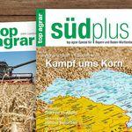 2 Ausgaben Top Agrar inkl. Südplus kostenlos anfordern + Bierkrug geschenkt (Kündigung notwendig)