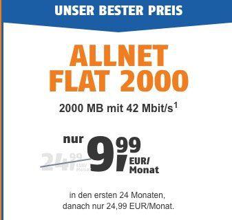 TOP! Telekom Allnet Flat mit 2GB für nur 9,99€ mtl.