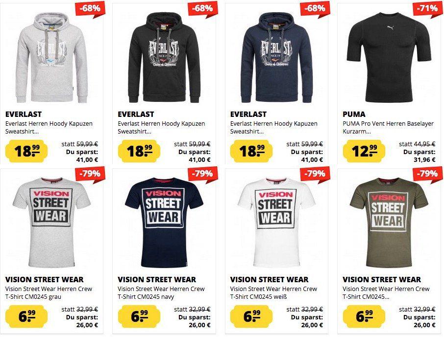 Viele coole Angebote in den Sportspar Deals (Everlast Hoodie 18€ ...uvm.)
