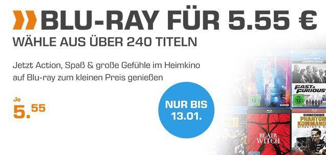 Saturn: über 200 Blu rays für je 5,55€ zzgl. Versandkosten