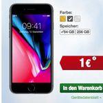 Smartmobil: o2 Allnet-Flat mit 5GB LTE + Smartphone – z.B. iPhone 8 mit 64GB für 1€