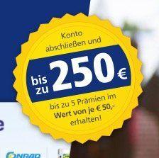 Bis zu 250€ Prämie für das Postbank Giro plus Girokonto   nur Neukunden (letzten 12 Monate kein Postbank Konto)