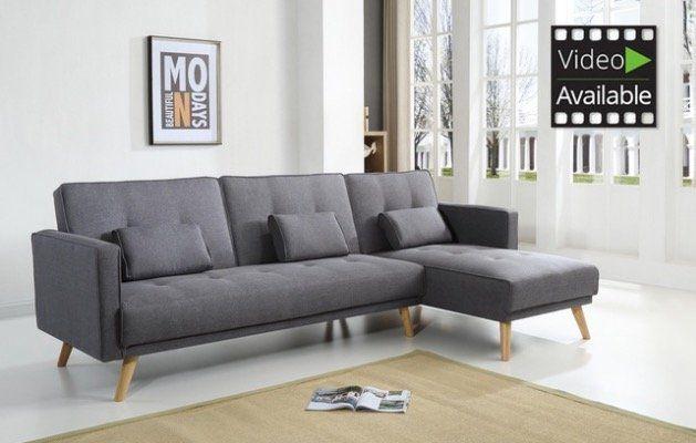 Bobochic Ecksofa Helly mit Bettfunktion und Chaise Lounge für 401,99€