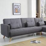 Bobochic Ecksofa Helly mit Bettfunktion und Chaise-Lounge für 401,99€