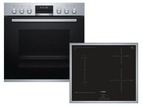 Bosch HND676OS60 Einbauherd Set mit Induktions Kochfeld für 1.229€(statt 1.434€)