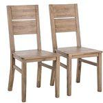 2er Set Esszimmerstühle im Akazie-Retrolook für 99€ (statt 119€)