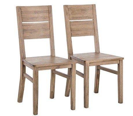 2er Set Esszimmerstühle im Akazie Retrolook für 99€ (statt 119€)