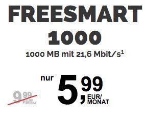 freenetMobile Tarife im Telekom oder Vodafone Netz mit bis zu 2GB Datenvolumen ab 3,99€ mtl.