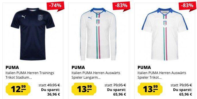 Puma Italien Sale bei Sportspar   Trikots ab 12,99€ oder Trainingshosen ab 13,99€