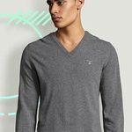 GANT Pullover aus 100% Lammwolle mit V-Ausschnitt für Damen und Herren für je 48,90€