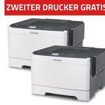 Lexmark CS417dn Farblaser-Drucker für 139€ + zweiten Drucker geschenkt