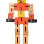 Kleiner Spielzeug-Roboter aus Holz mit Lerneffekt für 1,40€