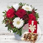 Valentinstags-Sträuße mit gratis Vase oder Pralinen + 20% Gutschein ab 24,99€ + keine Versandkosten