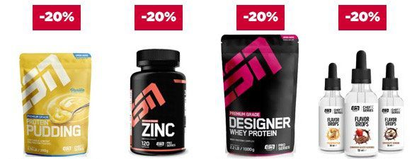 20% auf alle ESN Produkte bei fitmart   z.B. 6kg ESN Whey für 90,72€ (statt 99€)