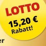 12 Felder Lotto (8 Mio. Jackpot) für 14,70€ + 3 weitere Lotterie-Tipps gratis (Wert 15,20€)