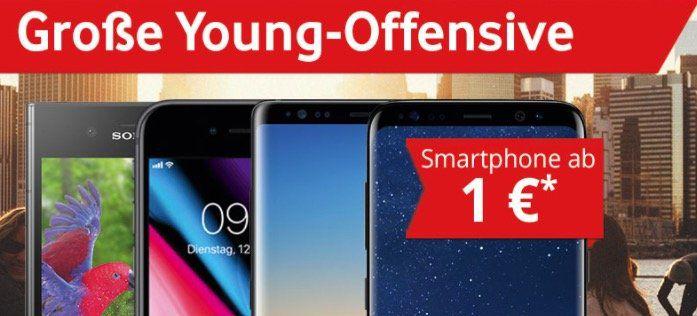 Vodafone Young mit bis zu 14GB LTE + 6 Monate  50% Rabatt auf die Grundgebühr + Top Smartphone + 1 Monat Deezer gratis