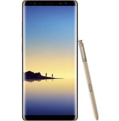 Samsung Galaxy Note 8   6,3 Zoll Smartphone mit 64G B Ware Schwarz o. Gold für 359,90€ (statt 605€)