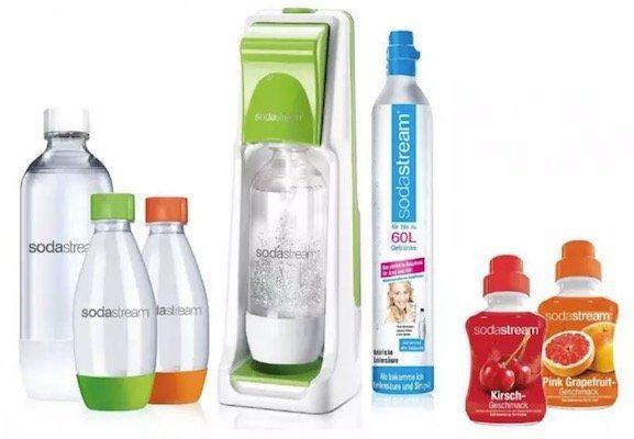 Sodastream Cool inkl. 4 PET Flaschen, 2x Sirup und CO2 Zylinder für 44,90€ (statt 62€)