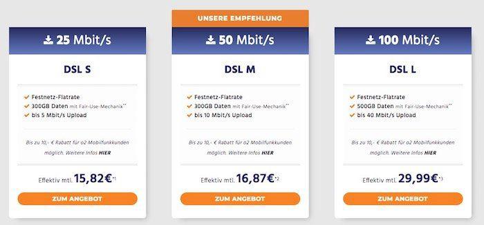 o2 DSL Angebote bei Handyflash   z.B. DSL M mit 50 Mbit/s für 16,87€ mtl. dank 60€ Cashback + Kombi Vorteil möglich (bis zu 10€ Rabatt mtl.)