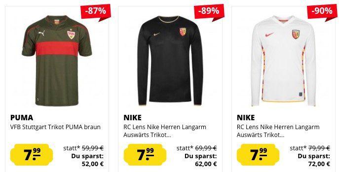 Fußball Trikots ab je nur 7,99€ bei SportSpar + 10% Gutschein