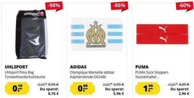 Fußball Sale ab 0,19€ bei SportSpar + 10% Gutschein   z.B. Stutzen ab 2,60€ uvm.