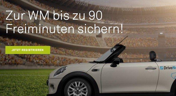 DriveNow Anmeldung nur 4,99€ (statt 29€) inkl. bis zu 90 Freiminuten