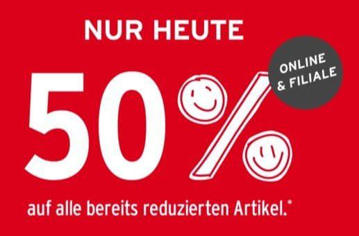 Nur Heute! Ernstings Family mit 50% Extra Rabatt im Sale