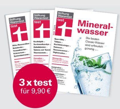"""3 Ausgaben """"test"""" von der Stiftung Warentest für 9,90€ + gratis test Jahrbuch 2020 im Wert von 14,90€"""