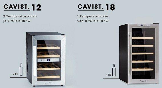 Cavist. Weinkühlschränke im OneDay Sale bei Vente Privee   z.B. Cavist.12 für 186,99€ (statt 209€)