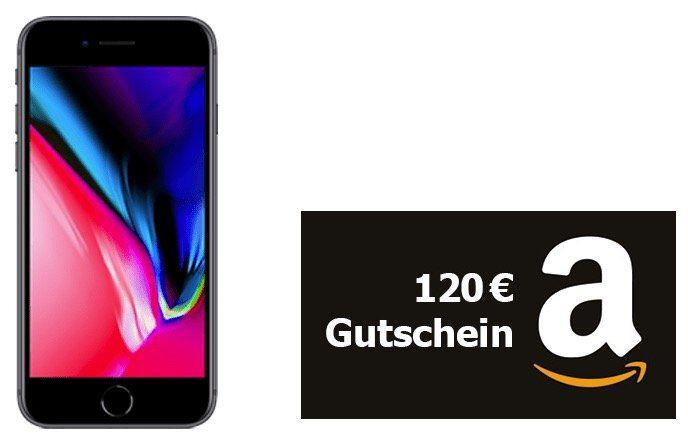 ? iPhone 8 für 4,95€ + 120€ Amazon Gutschein + Vodafone Smart XL mit 11GB LTE für 41,99€ mtl.