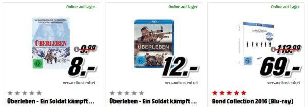 Bond Collection 2016 [Blu ray] für 69, € uvm. im Media Markt Dienstag Sale