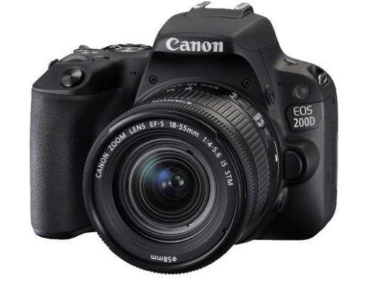 Canon EOS 200D   24MP DSL Kamera mit Objektiv, WLAN + Touchscreen für 449,91€ (statt 525€)